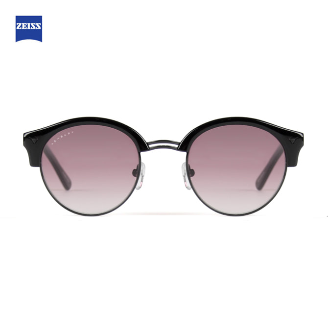 ASHBURY STOCKTON BLACK-BLACK WITH ROSE LENS