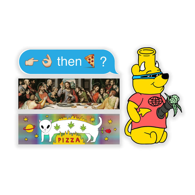 PIZZA STICKER PACK 2 (20 PACK)