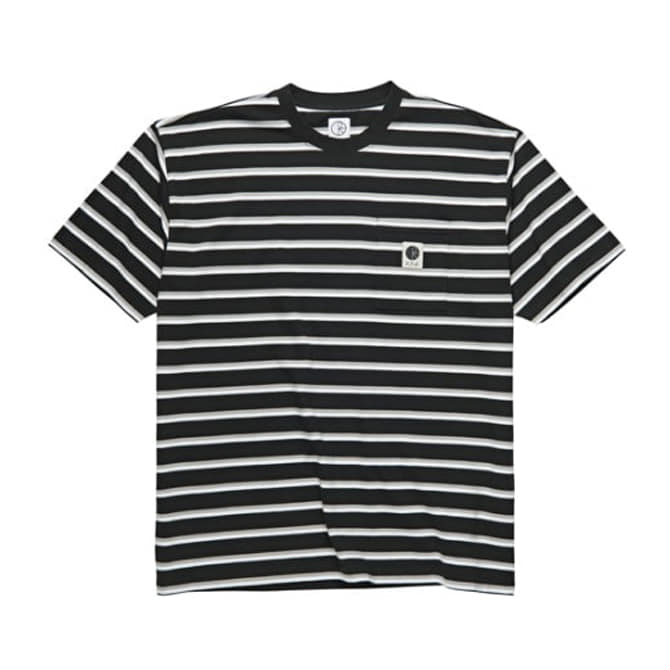 POLAR STRIPE POCKET TEE - BLACK