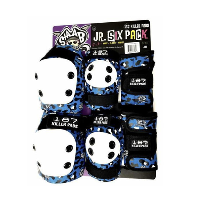 187 KILLER PADS SIX PACK - STAAB BLUE  [JUNIOR]