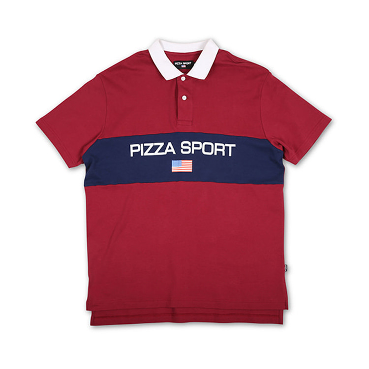 PIZZA PIZZA SPORT POLO - RED