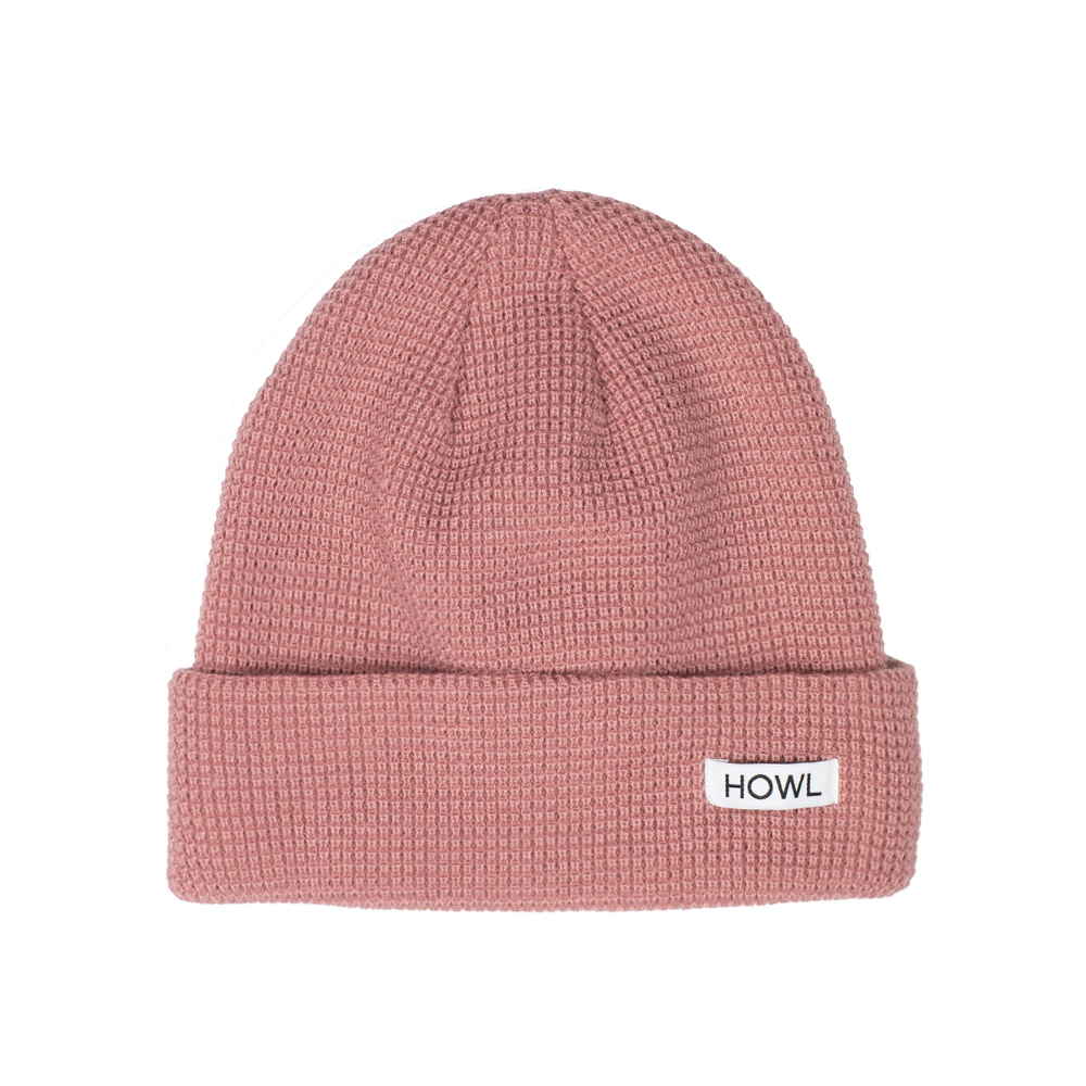 HOWL SUPPLY  WAFFLE BEANIE PINK