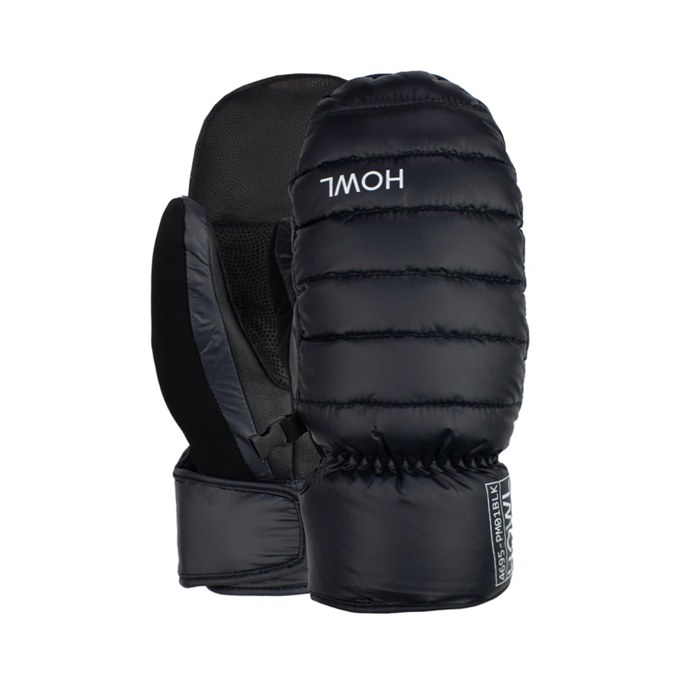 HOWL SUPPLY  DOWN MITT BLACK