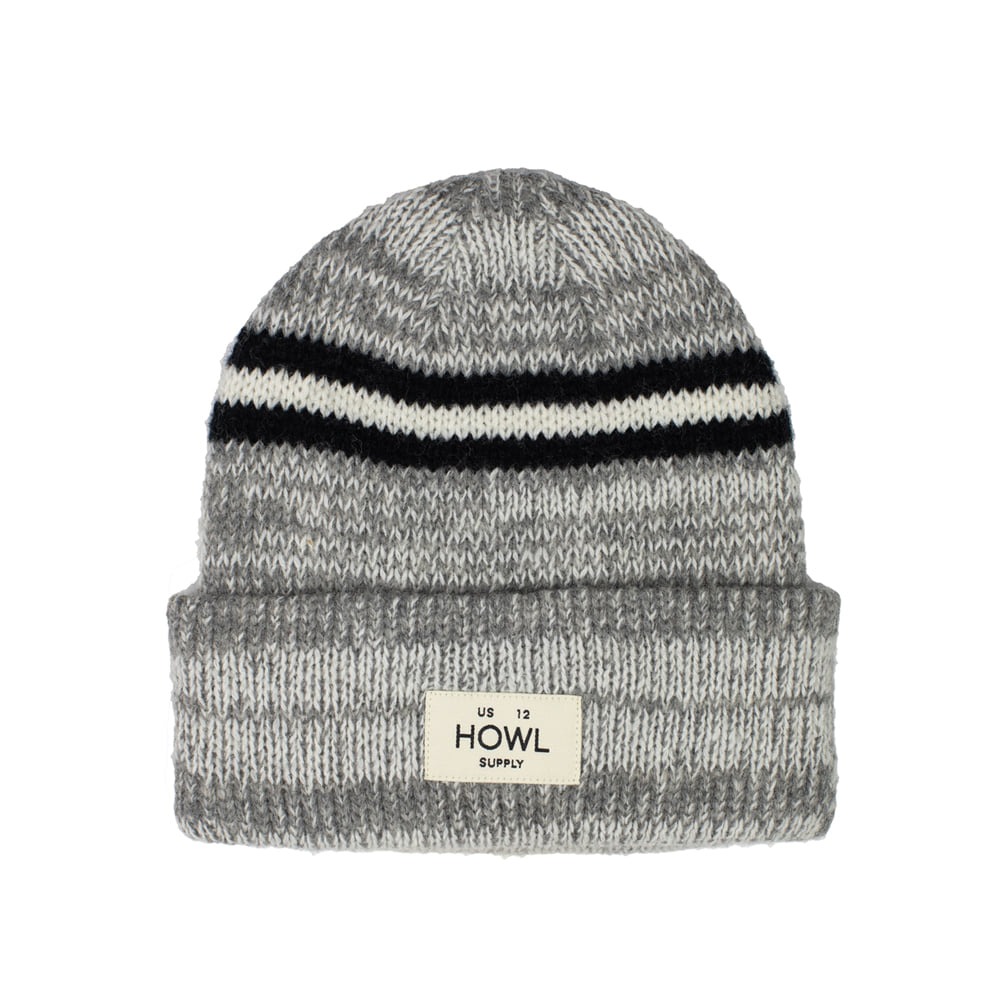 HOWL SUPPLY  STRIPE BEANIE CHOCOLATE