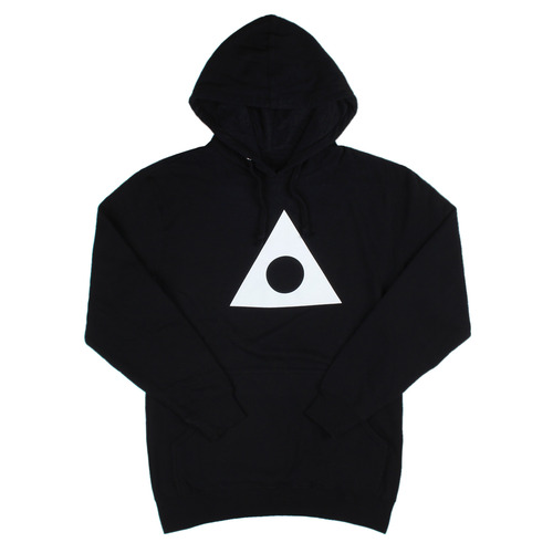 ASHBURY TRIANGLE CIRCLE PULLOVER HOOD BLACK