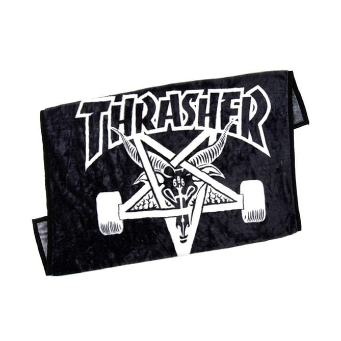 THRASHER SKATE GOAT BLANKET - BLACK