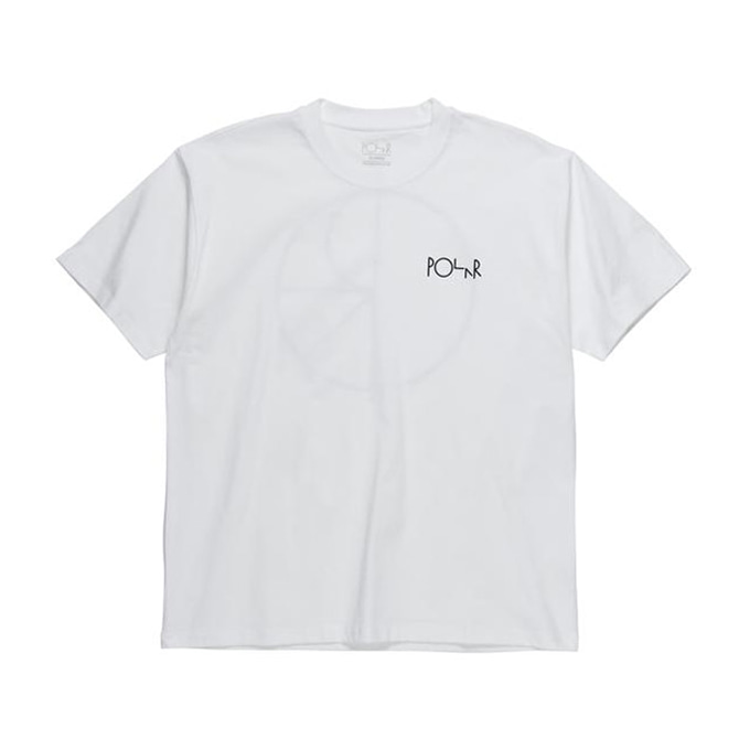 POLAR STROKE LOGO TEE - WHITE/BLACK