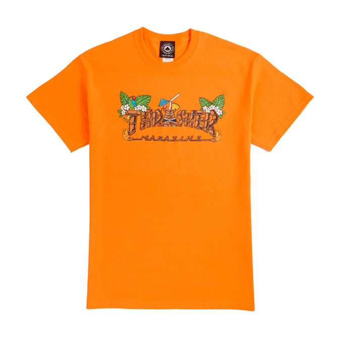 THRASHER TIKI TEE - SARETY ORANGE