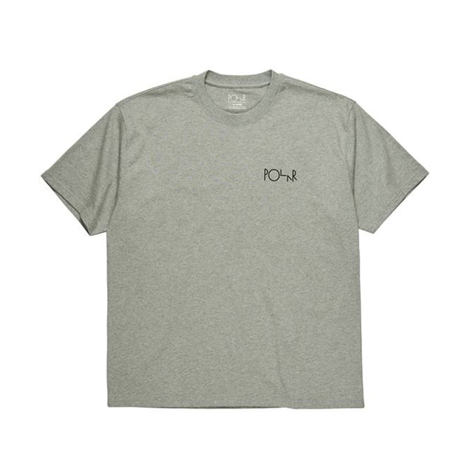 POLAR FILL LOGO TEE - HEATHER GREY/BLACK