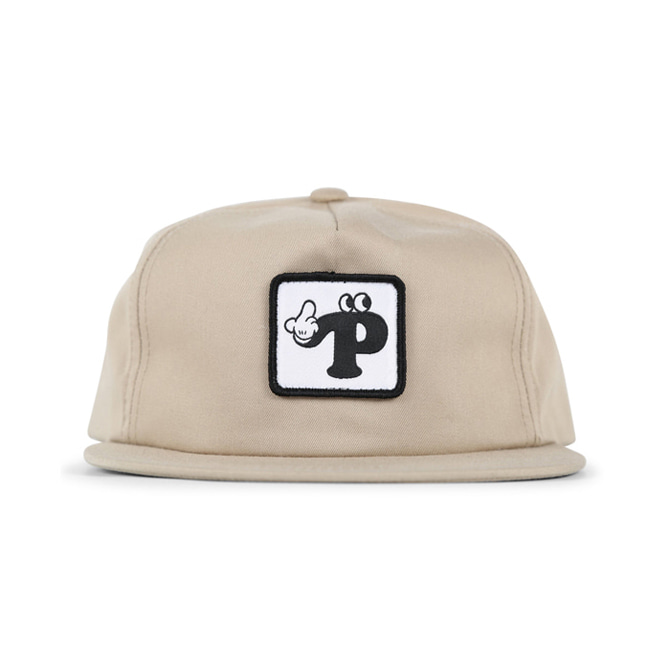 PIZZA WYS 5 PANEL HAT - TAN