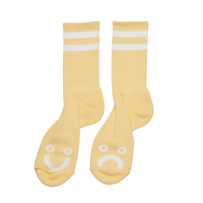 POLAR HAPPY SAD SOCKS - LIGHT YELLOW