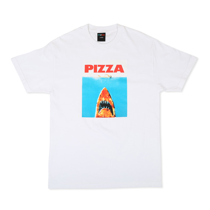 PIZZA SHARK TEE - WHITE