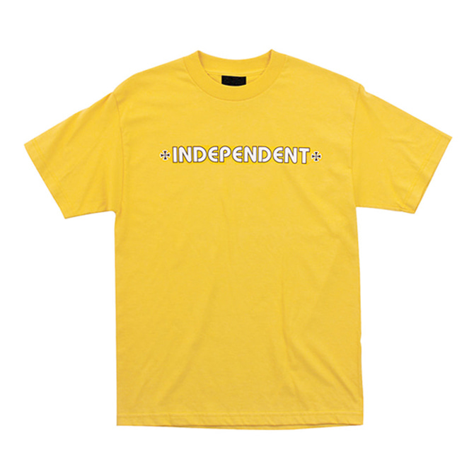 INDEPENDENT BAR/CROSS TEE - GOLD