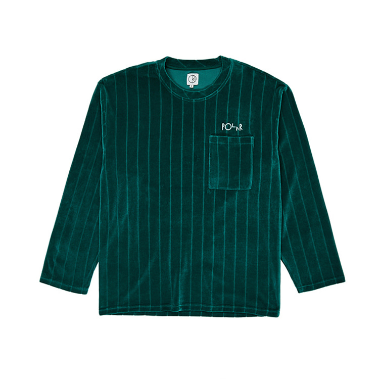 POLAR VELOUR PULLOVER - DARK GREEN