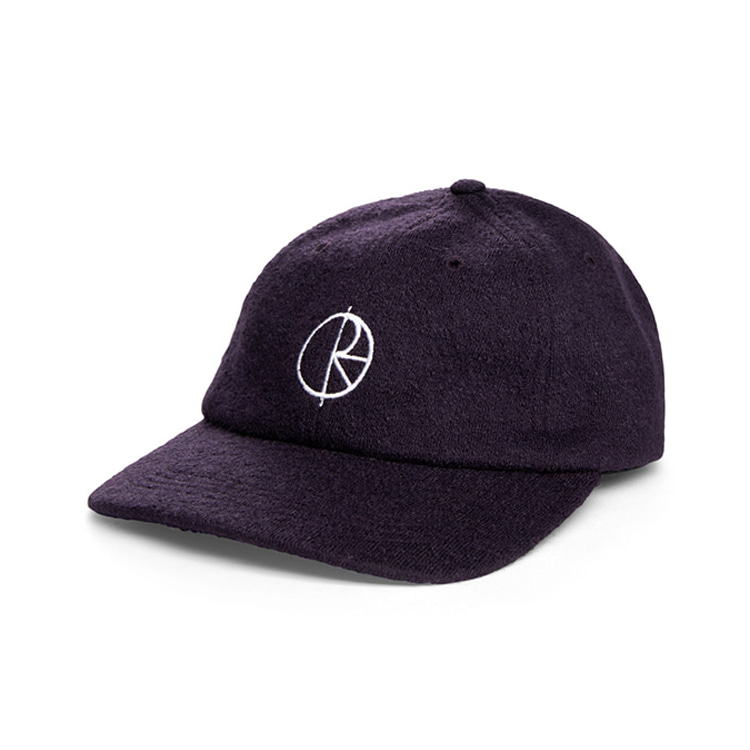 POLAR BOILED WOOL CAP - PLUM