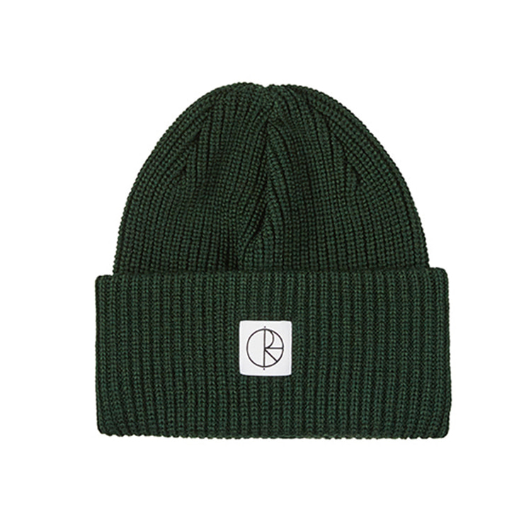 POLAR DOUBLE FOLD MERINO BEANIE - DARK GREEN