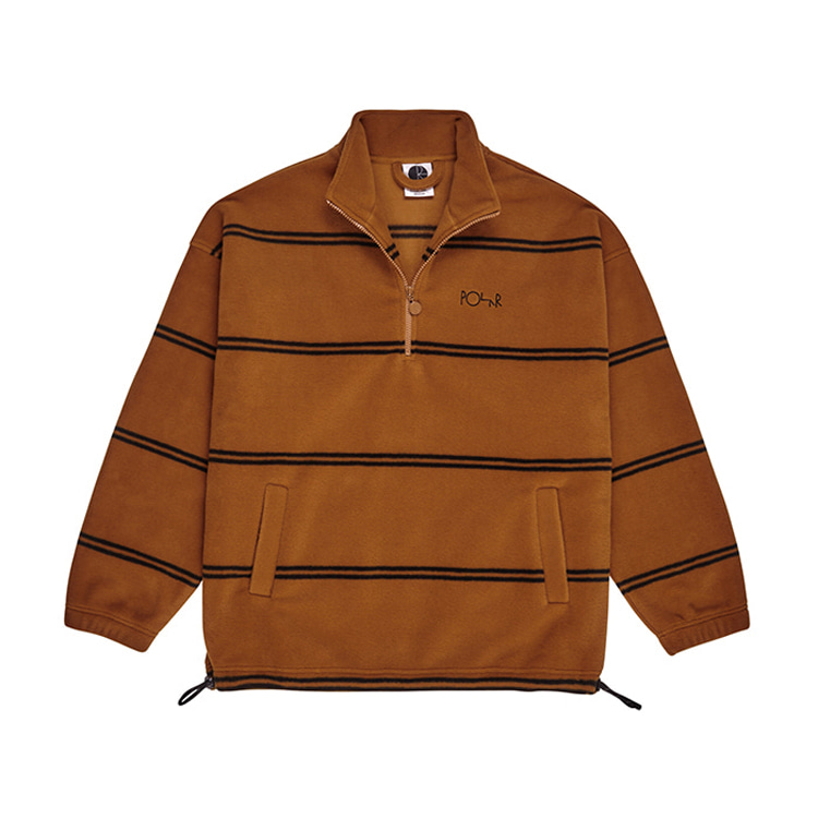 POLAR STRIPED FLEECE PULLOVER 2.0 - CARAMEL