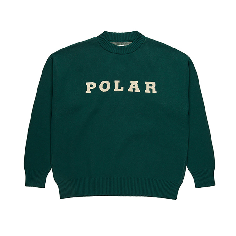POLAR POLAR KNIT SWEATER - DARK GREEN
