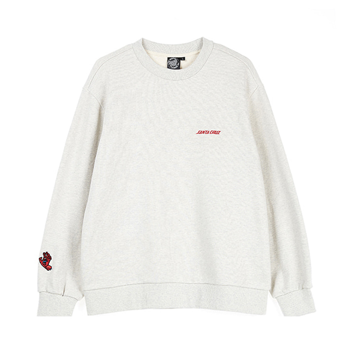 SANTA CRUZ STRIP POPE PULLOVER - OATMEAL