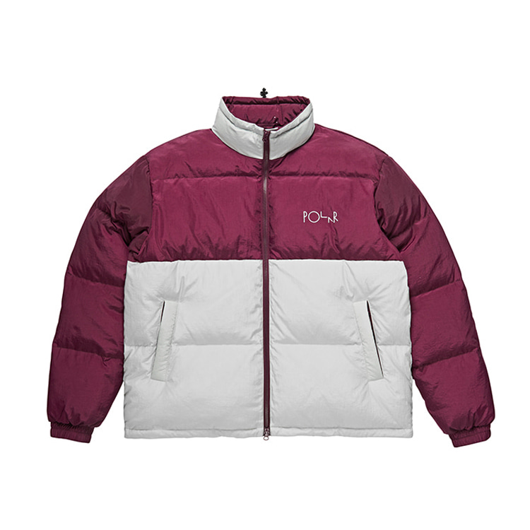 POLAR COMBO PUFFER - PRUNE/ICE GREY