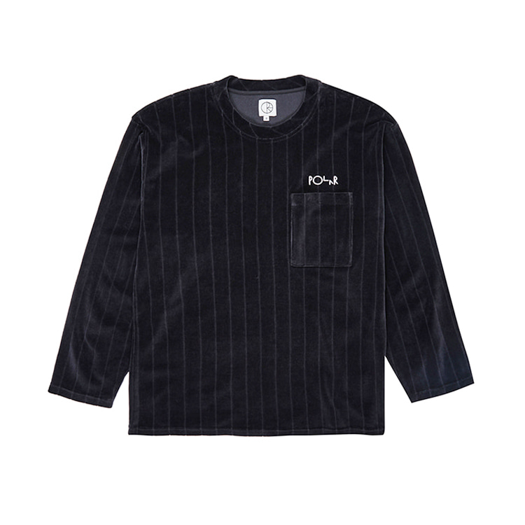 POLAR VELOUR PULLOVER - BLACK