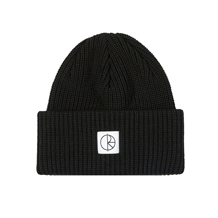 POLAR DOUBLE FOLD MERINO BEANIE - BLACK