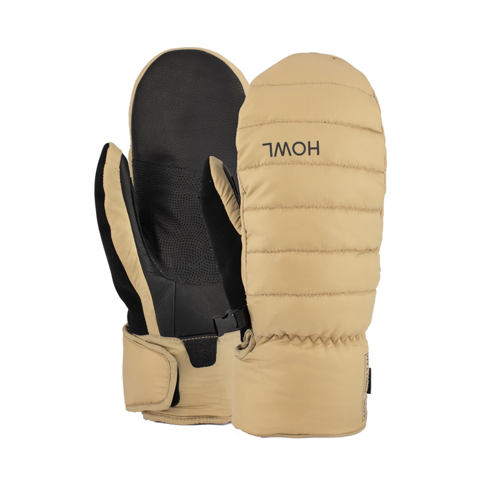 HOWL SUPPLY  DOWN MITT TAN