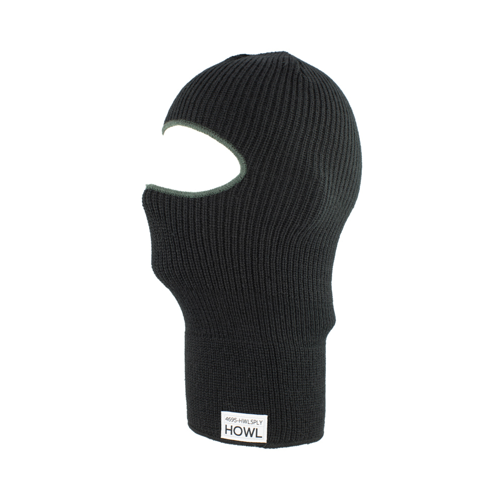 HOWL SUPPLY  BURGLAR FACEMASK BLACK