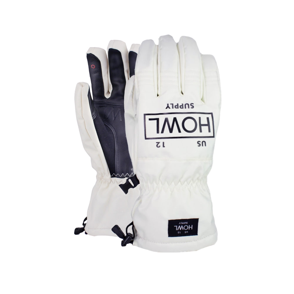 HOWL SUPPLY  TEAM GLOVE SNOW WHITE