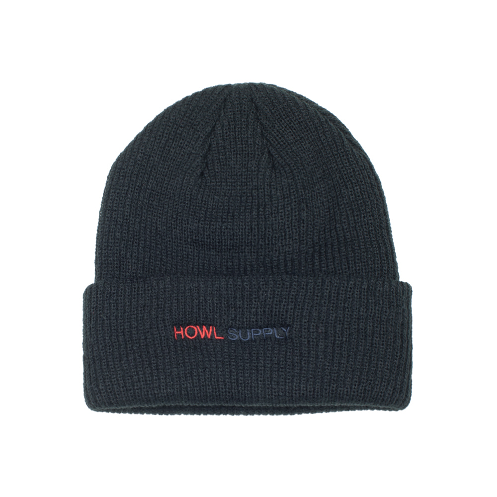 HOWL SUPPLY  JOURNAL BEANIE BLACK