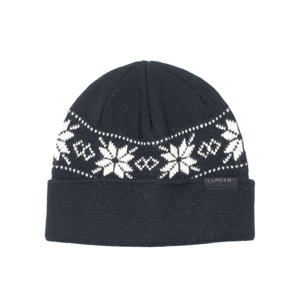 HOWL SUPPLY  FLAKE BEANIE BLACK