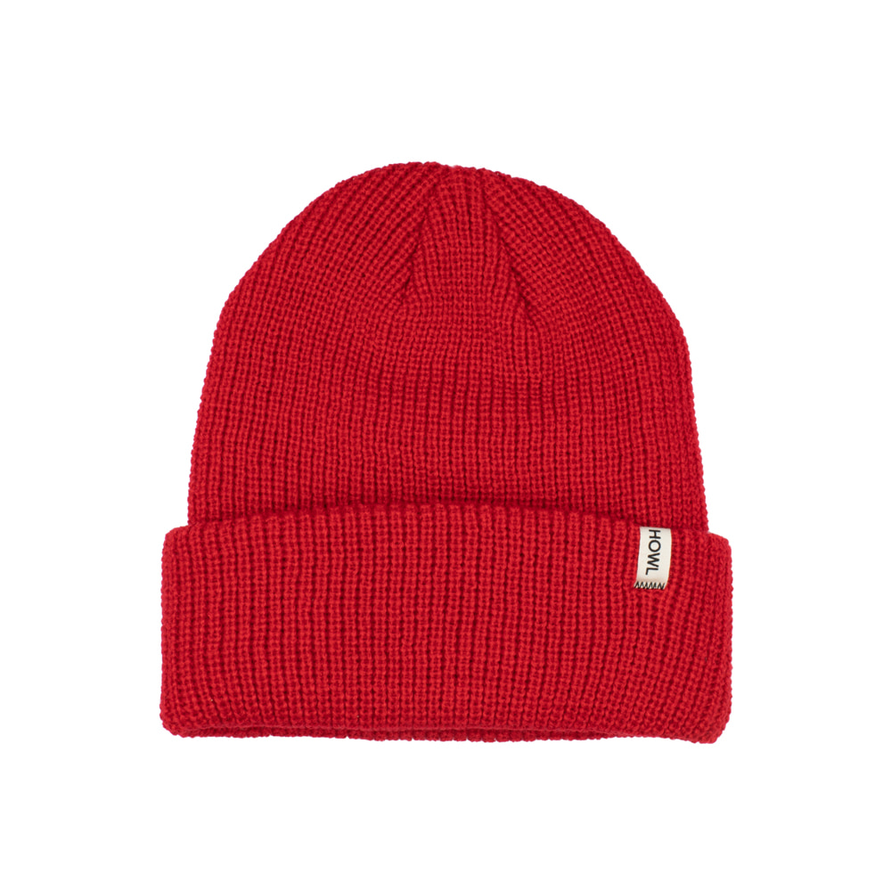 HOWL SUPPLY  SLASH BEANIE RED