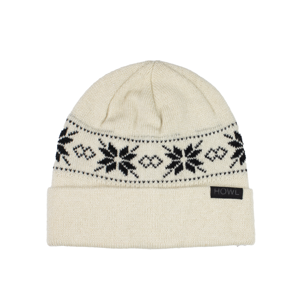 HOWL SUPPLY  FLAKE BEANIE WHITE