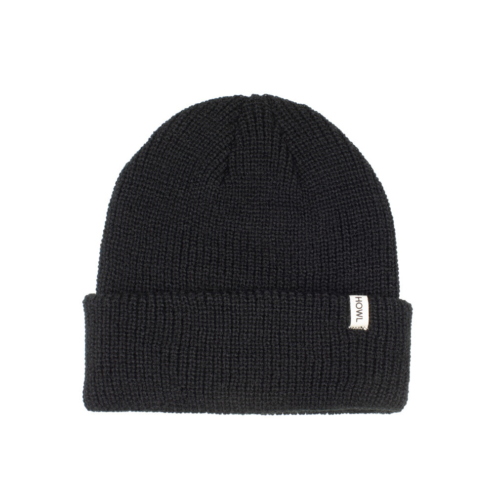 HOWL SUPPLY  SLASH BEANIE BLACK