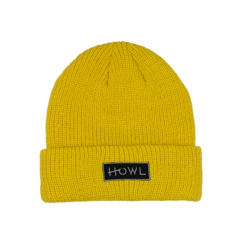 HOWL SUPPLY  GASOLINE BEANIE MUSTARD