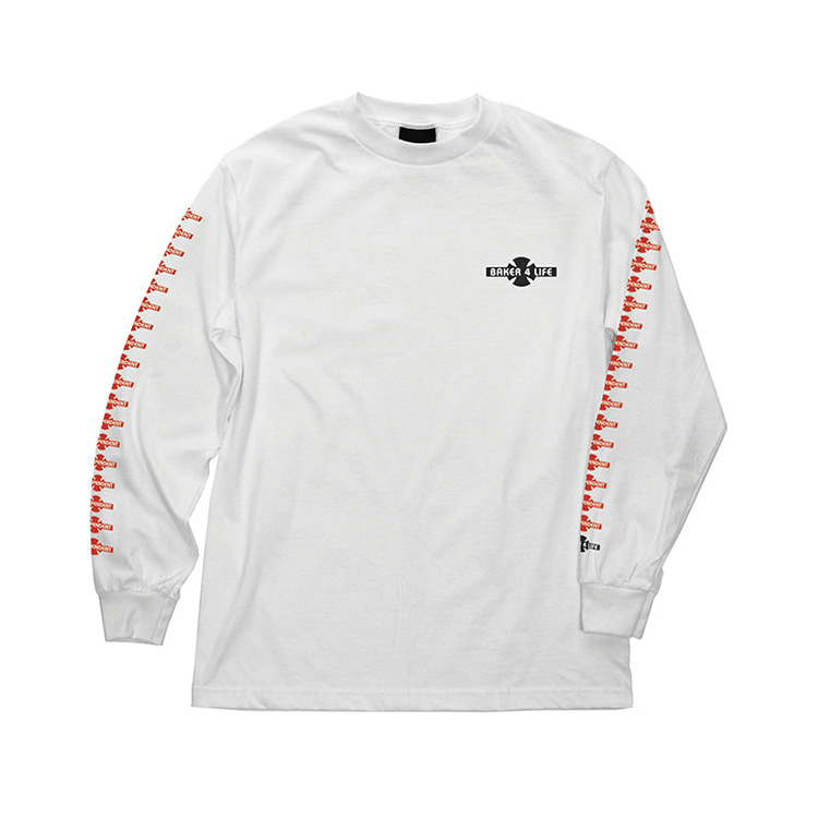 INDEPENDENT X BAKER BAKER 4 LIFE L/S REGULAR TEE - WHITE