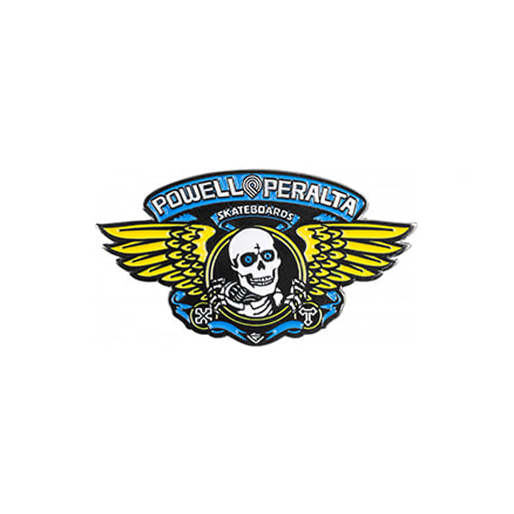 POWELL PERALTA WINGED RIPPER LAPEL PIN - BLUE