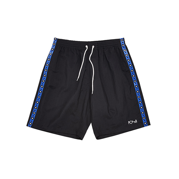 POLAR SQUARE STRIPE CITY/SWIM SHORTS - BLACK [SPRING 2020]