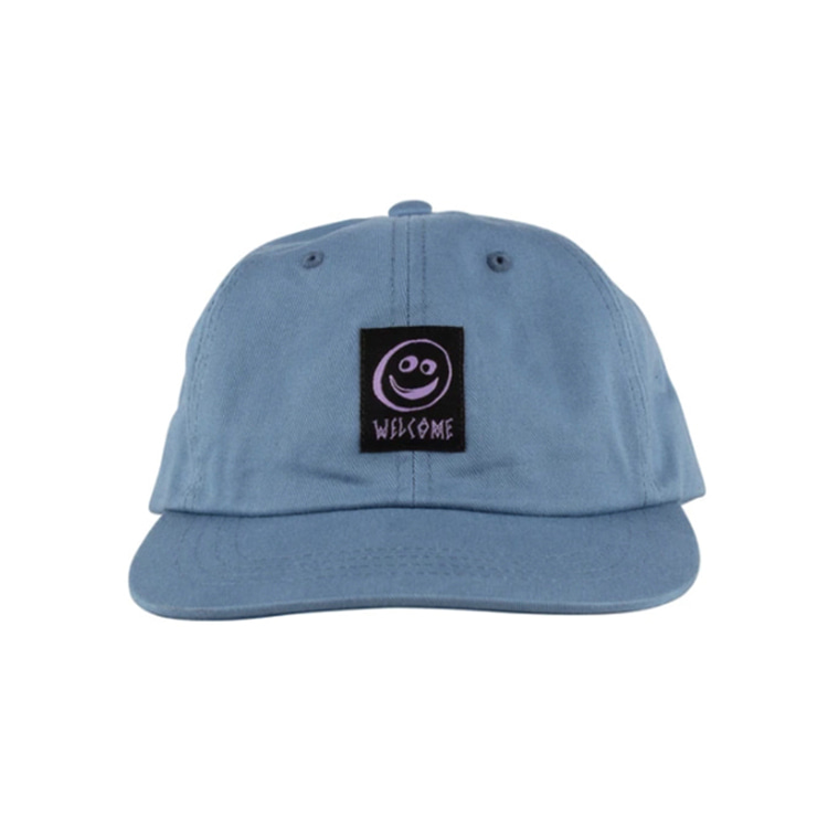 WELCOME SMILEY UNSTRUCTURED SNAPBACK - SLATE