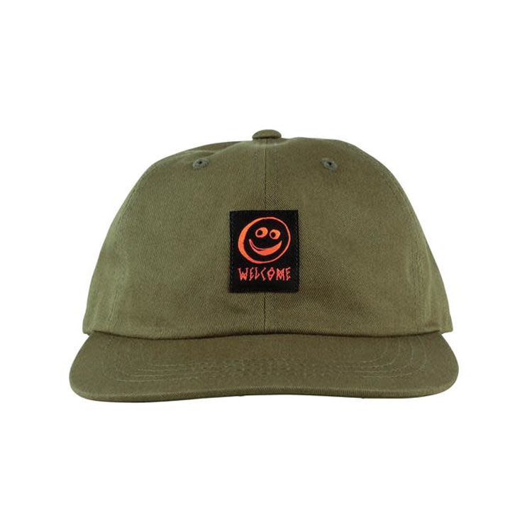 WELCOME SMILEY UNSTRUCTURED SNAPBACK - OLIVE