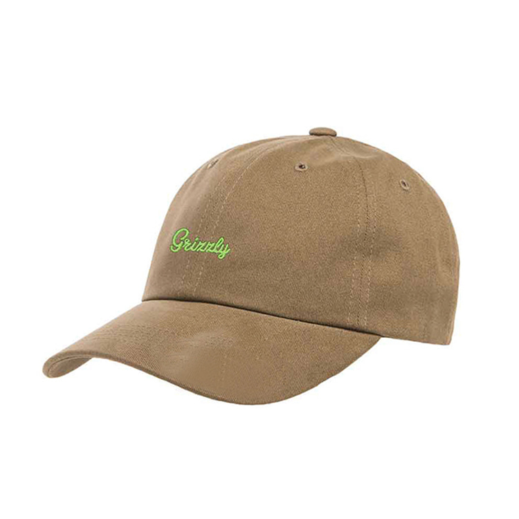 GRIZZLY LATE TO THE GAME DAD HAT - KHAKI/YELLOW
