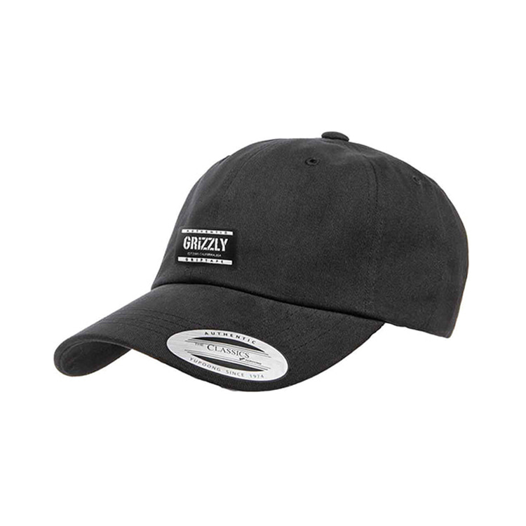 GRIZZLY LABELED DAD HAT - BLACK