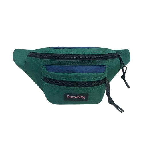 BUMBAG LOUIE LOPEZ HYBRID HIP PACK - FOREST GREEN/NAVY