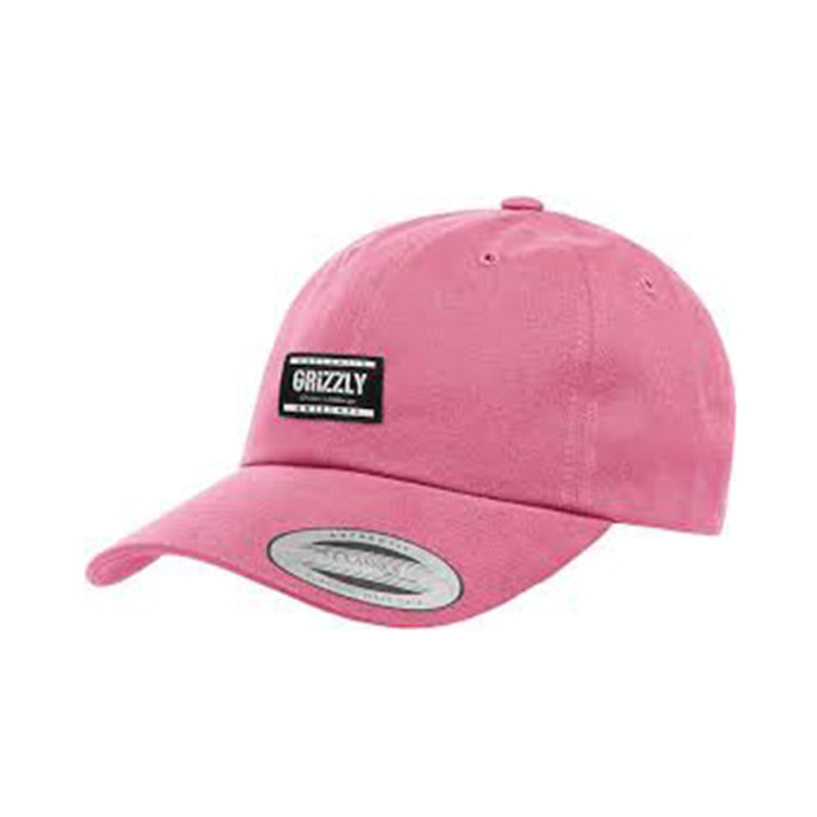GRIZZLY LABELED DAD HAT - PINK