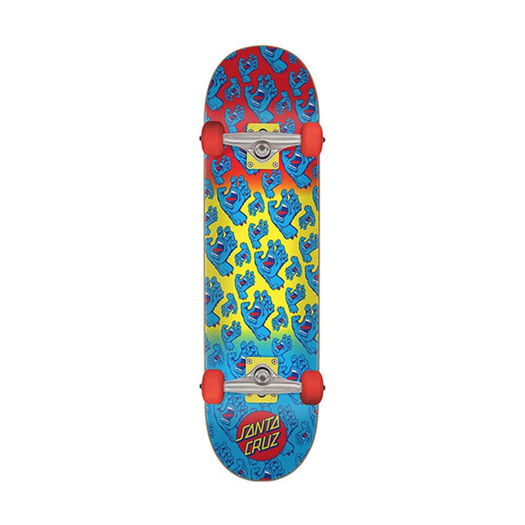 SANTA CRUZ HANDS ALLOVER SK8 COMPLETES 7.8IN X 31.7IN