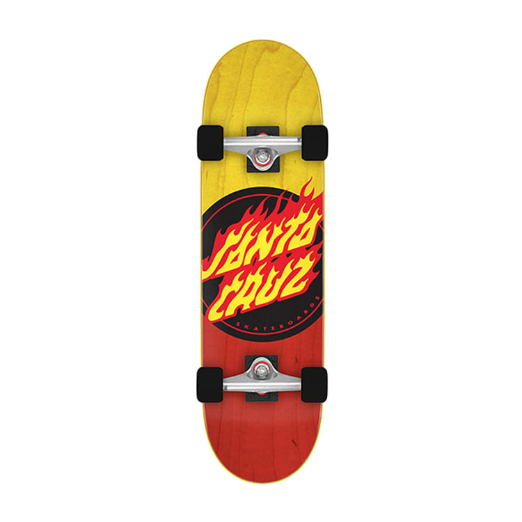 SANTA CRUZ FLAME DOT POPSICLE CRUZER 9.00IN X 32.15IN