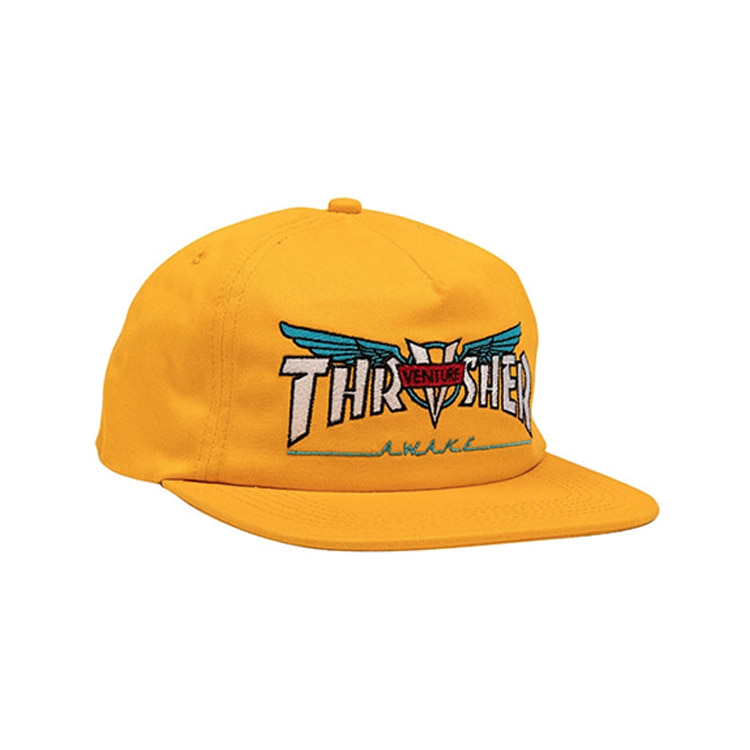 THRASHER X VENTURE VENTURE COLLAB SNAPBACK - GOLD