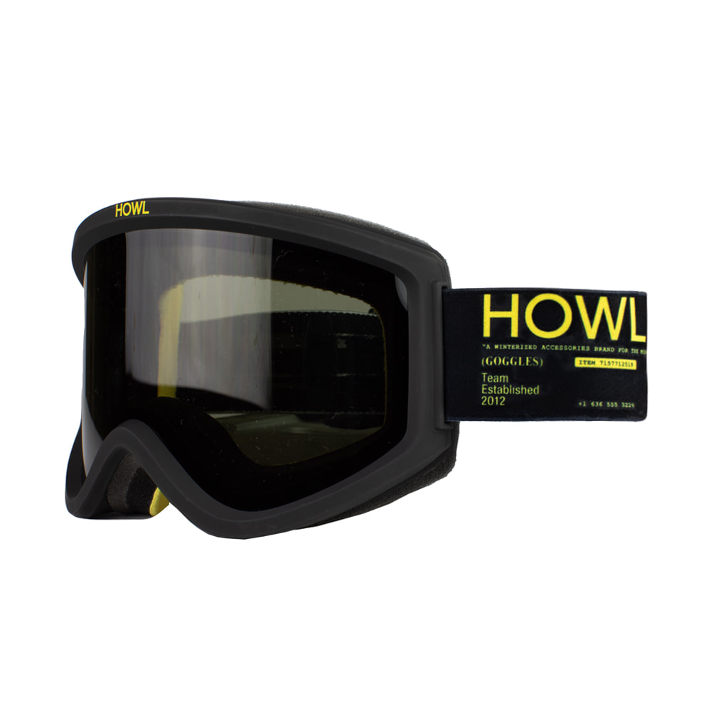 HOWL SUPPLY  ODYSSEY GOOGLE BLACK - BONUS ROSE LENS