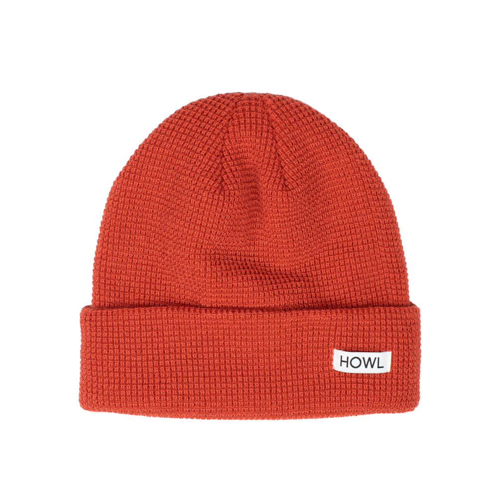 HOWL SUPPLY  WAFFLE BEANIE BURNT ORANGE
