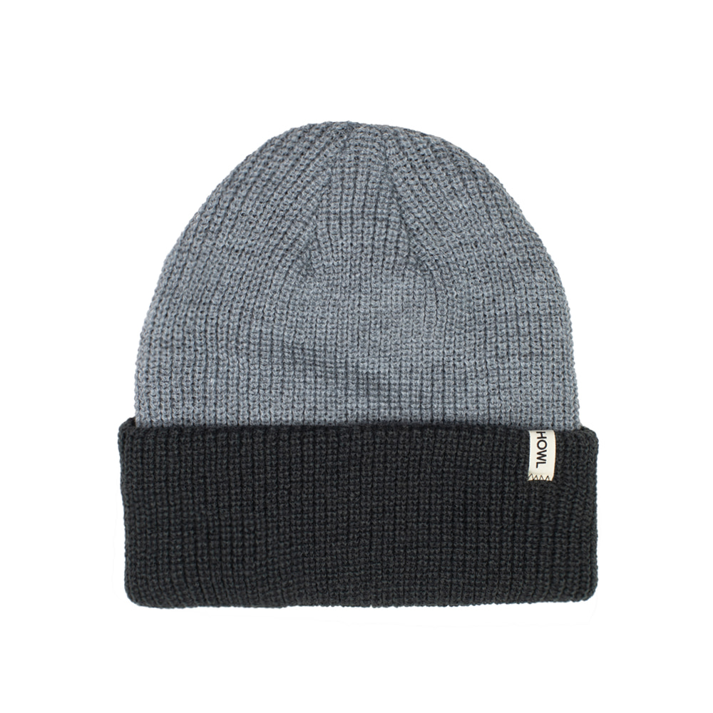 HOWL SUPPLY  SLASH BEANIE HEATHER GREY